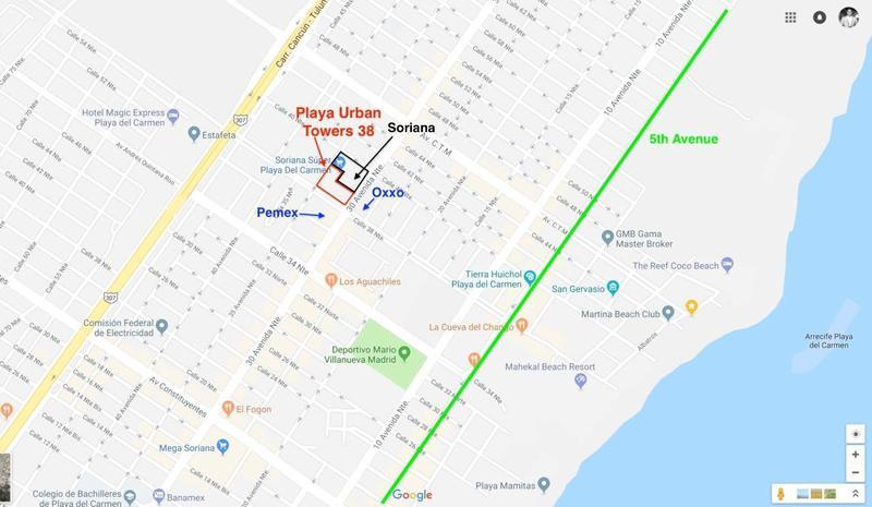 Foto Departamento en Venta en  Playa del Carmen ,  Quintana Roo  Departamento Venta Playa del Carmen Urban Tower $215,000 USD Marjos E1