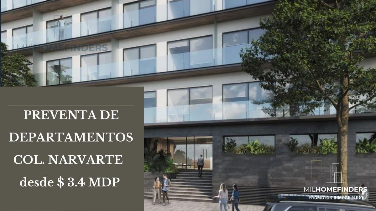 Foto Departamento en Venta en  Narvarte,  Benito Juárez  GRAN PREVENTA DE DEPARTAMENTOS EN NARVARTE DESDE $3,748,800 , CON LAS MEJORES AMENIDADES