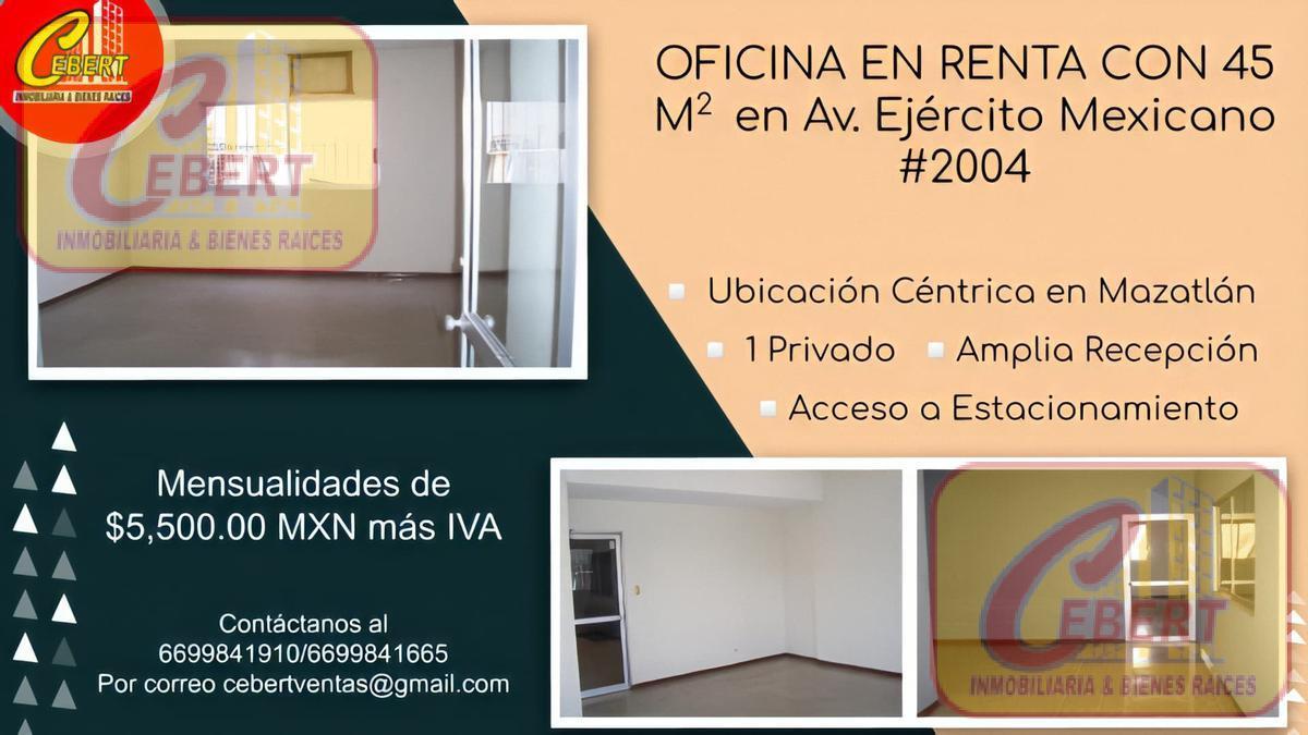 Foto Oficina en Renta en  Insurgentes,  Mazatlán  RENTA DE OFICINA DE 45 M2 EN MAZATLAN,SINALOA
