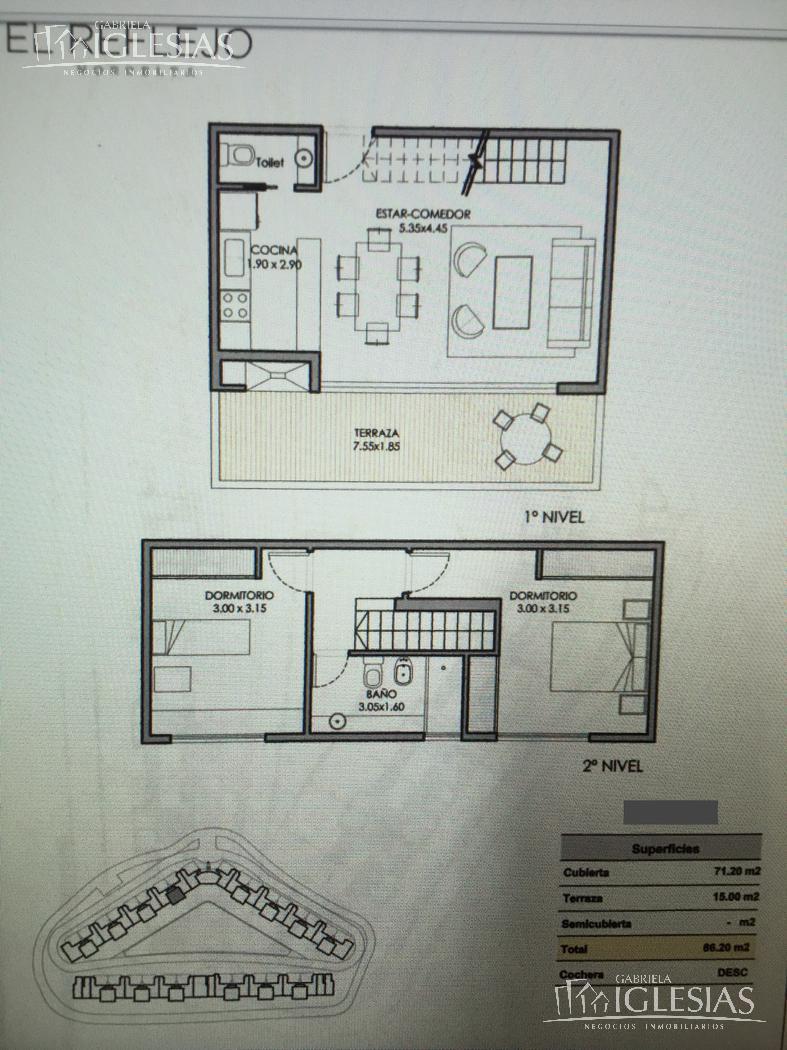 Departamento en Venta en El Reflejo a Venta - u$s 160.000