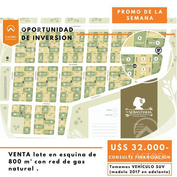 Foto Terreno en Venta en  La Sebastiana,  Merlo  Calle Goya, con red de gas natural