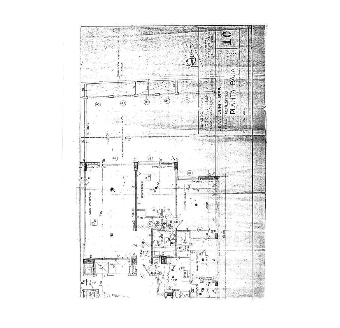 Departamento-Venta-Recoleta-Junin al 1400 e/ Las heras y Pacheco de Melo