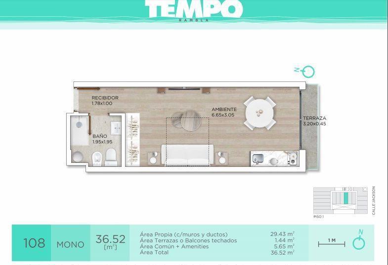 Foto Apartamento en Venta en  Parque Rodó ,  Montevideo  Jackson 800