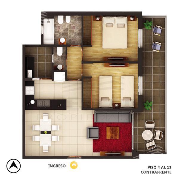 Venta departamento 2 dormitorios Rosario, zona Centro. Cod 4323. Crestale Propiedades